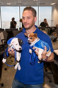 Heartwarming Photos Of Tom Hardy With Puppies Are Going Viral, And They'll Melt Your Heart