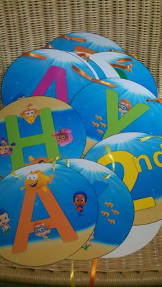 Bubble Guppies Large Happy Birthday Banner ONLY No Name No Age from creative2printables.com