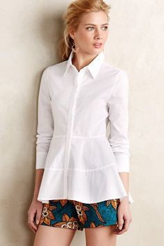 Poplin Empire Top - anthropologie.com. Make it maybe?