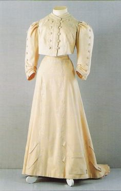 Spring Day Dress of Dowager Empress Maria Fyodorovna, House of Worth (Paris, France): ca. 1890-1900.
