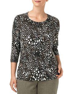Samoon T-Shirt 3/4 Arm Rundhals »Kombifreundliches Slinky-Shirt«