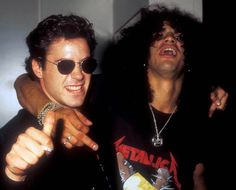 Robert Downey Jr and Slash  * tries to squeeze in the middle *