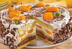 Tort cu piersici Jacque Pepin, Just Desserts, Tiramisu, Cheesecake, Sweets, Cookies, Ethnic Recipes, Foods, Drink