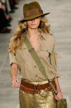 Safari style by Ralph Lauren Cowboy Chic, Style Cowgirl, Cowgirl Fashion, Cowgirl Clothing, Safari Fashion, Cowgirl Dresses, Gypsy Cowgirl, Western Chic, Travel Fashion