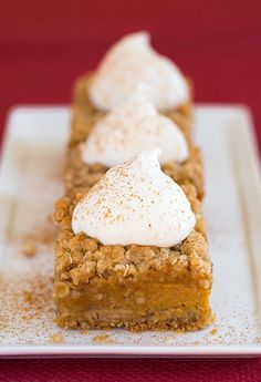 Recipe For Pumpkin Pie Crumb Bars - Once you try these you'll want them once a month year round. However your serve them, I'd definitely recommend trying them in the near future. Enjoy!