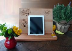 Kitchen ipad Stand Cookbook Stand Cutting by TheCuttingBoardShop, $45.00