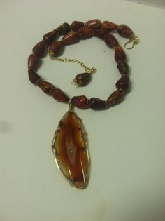 Agate Slice Necklace by Bellaandemmajewelry on Etsy, $80.00