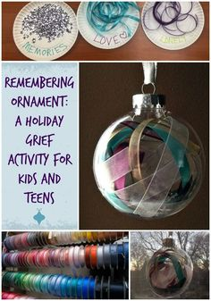Great holiday grief activity for kids, teens and adults!