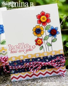 https://flic.kr/p/ceYD4d | Stitched-cards3 | The Craft's Meow's Stitched Flowers and Stitched Sentiments