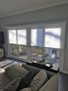 Roller Shades Over Patio Doors