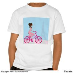 Biking in Paris Shirt  #Bike #Biking #Paris #France #EiffelTower #Shirt #Tshirt #Tee