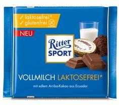 RITTER SPORT Vollmilch Schokolade laktosefrei und glutenfrei