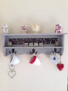 Driftwood shelf hand painted using Annie Sloan Paris Grey