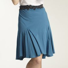 Organic cotton Wave Skirt. Fair trade, ethical fashion from INDIGENOUS.