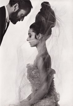 Audrey Hepburn and Mel Ferrer photographed by Bert Stern for Vogue Paris May 1963