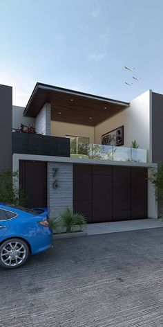 Modern House Facades, Modern Exterior House Designs, Modern House Design, Exterior Design, Modern Architecture, Chinese Architecture, House Gate Design, House Front Design, Small House Design