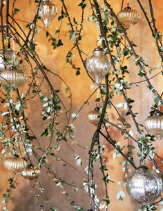 silver ornaments #MyBalsamHillHome