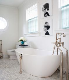 House of Turquoise: Anne Hepfer Designs beautiful bath with freestanding tub