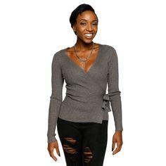 d9a8c0b7cd Xehar Womens Sexy Wrap Ribbon Cardigan Knit Sweater