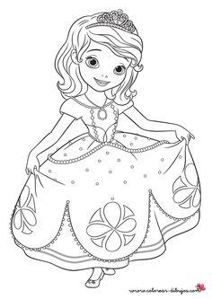 dibujos para colorear de la princesa sofia - Buscar con Google