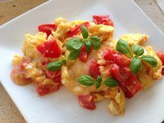 lidt om alt - og meget om mad: nem lchf morgenmad: pizza-æg