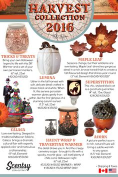 Scentsy Harvest Collection 2016 Flyer By: Brittany McKee Admin Of: No-Nonsense…
