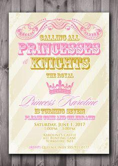 PRINCESS PARTY  Princess and Knight Birthday by ScriptureWallArt, $12.00