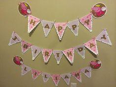 Peppa Pig Custom Birthday Banner by BLunaDesigns7623 on Etsy, $28.50
