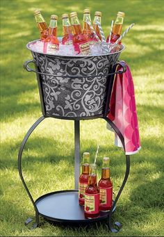 Would love to have this for my cookouts this summer! willow-house-home-decor-ideas Pink Summer, Summer Fun, Summer Time, Summer Parties, Outdoor Parties, Outdoor Entertaining, Willow House, Flower Pots, Party Planning