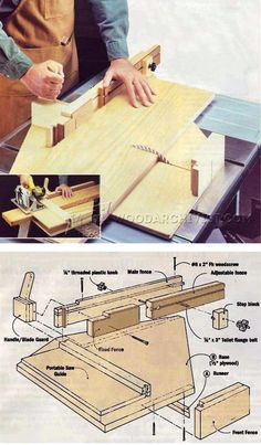 Double-Duty Cut-Off Jig - Table Saw Tips, Jigs and Fixtures | WoodArchivist.com