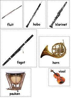 instrumenten Peter en de wolf