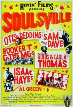 Classic 1960s Stax/Volt Concert Poster...
