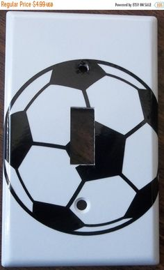 Soccer Ball Sports Boys Girls You Pick Color Light Switch Plate Cover Vinyl  Decal Kitchen Bedroom Bathroom Wall Decor Decoration H