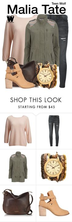 """""""Teen Wolf"""" by wearwhatyouwatch ❤ liked on Polyvore featuring SELECTED, Current/Elliott, Vero Moda, Sara Designs, The Bridge, SPURR, television and wearwhatyouwatch"""