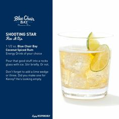 Kenny's new rum Blue Chair Bay - Shooting Star recipe