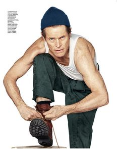 Willem Dafoe for M Le Monde with styling by Aleksandra Woroniecka