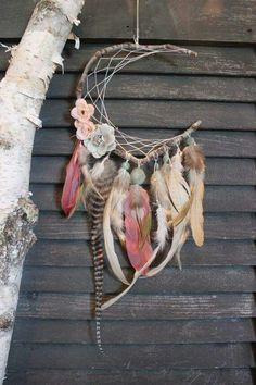 ☮ American Hippie Bohéme Boho Lifestyle ☮ Feather Dreamcatcher
