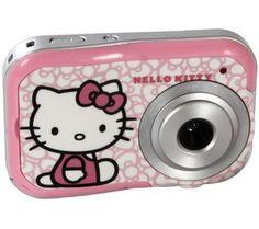 """Diese Digitalkamera Hello Kitty von Techtraining besitzt eine Auflösung von 2.1 Megapixeln, einen 1,5""""-LCD-Bildschirm und einen internen Speicher für bis zu 120 Fotos."""