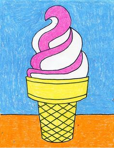 ice cream cone projects draw drawings drawing bloglovin easy soft