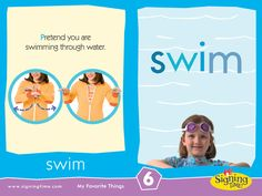 Sign of the Week - Swim - Signing Time Sign Language Basics, Sign Language For Kids, Sign Language Phrases, American Sign Language, Second Language, Baby Signing Time, Pecs Communication, Learn To Sign, Asl Signs