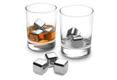 Stainless Steel Ice Cubes @ Sharper Image