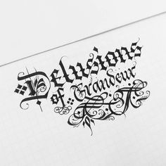 Illusions.#calligraphy #calligraphyart #calligraffiti #detailing #TYxCA #flourishing #lettering #typegang #typespot #handstyle #handmadefont #thefinesttype #typematters #artoftype #instagramaddicts #instapopular #instagood #instafamous #instalove #instagrammers #igers #igdaily #igaddicts #instabeautiful #instatype #typespire