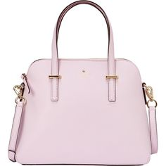 Kate Spade New York Cedar Street Maise Convertible Satchel (975 BRL) ❤ liked on Polyvore featuring bags, handbags, pink, kate spade bags, handbag satchel, pink satchel purse, kate spade purses and woven handbags