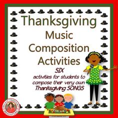 Music Composition Activities for Thanksgiving.  ♫ CLICK through to preview or save for later!  ♫
