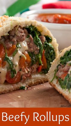 They'll go head over heels for these beefed up rollups that look as good as they taste! From the flaky crust to the hearty filling, this eye-catching, mouthwatering combo should be on your table tonight! Best Beef Recipes, Slow Cooker Recipes, Cooking Recipes, Budget Meals, Budget Recipes, Dinner Menu, Dinner Ideas, Baked Vegetables, Roll Ups