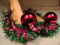 Cheri's Ugly Tacky Funny Christmas Sweater SHOES SIZE 9 #CHERISUGLYCHRISTMASSWEATERSSHOES #BalletFlats #CHRISTMAS