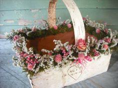so pretty. wedding card basket or program basket