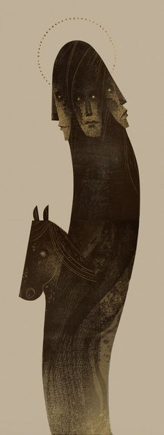 Slavic Gods & Demons – Lithography by Patrycja Podkościelny, via Behance