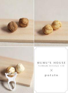 *potato* - *Nunu's HouseのミニチュアBlog* 1/12サイズのミニチュアの食べ物、雑貨などの制作blogです。