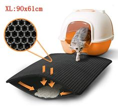 ZuHucpts Large Cat Litter Mat Trapper x 61 cm Honeycomb Double Layer Litter Mat -Traps Messes, Easy Clean and Durable, Non Toxic Trapper Rug Suitable for Litter Tray (Black) Cat Litter Mat, Litter Box, Layers Design, Pet Supplies, Pets, Honeycomb, Birthday Gifts, Birthday Presents, Birthday Favors